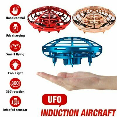 AU16.42 • Buy Mini Drone Smart UFO Aircraft For Kids Flying Toys RC Hand Control Xmas AUS 360°