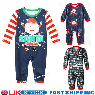 £7.19 • Buy UK Baby Girls Boy My First Christmas Outfit Suit Romper Set Santa Claus Clothes