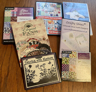 Craftroom Clearout 7 CD ROM - CARD MAKING & CRAFTS Bundle Job Lot #CD1 • 0.99£