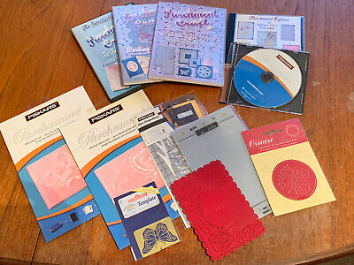 Crafts Clearout CD ROM's, DVD's & Stencils Parchment Crafts Bundle Job Lot #D3 • 0.99£