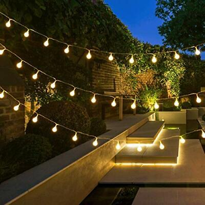 LE Fairy Lights Plug In, 10m 100 LED Outdoor Globe String Lights Mains Powered, • 19.99£