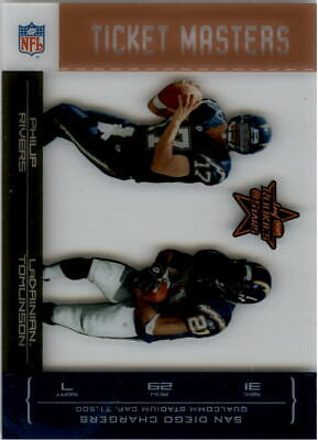 $2.20 • Buy 04 Leaf Rookies Star Ticket Master Bronze Philip Rivers LaDainian Tomlinson/1250