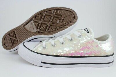Womens Chuck Taylor All Star Sequin Converse, White - Size 6 • 30£