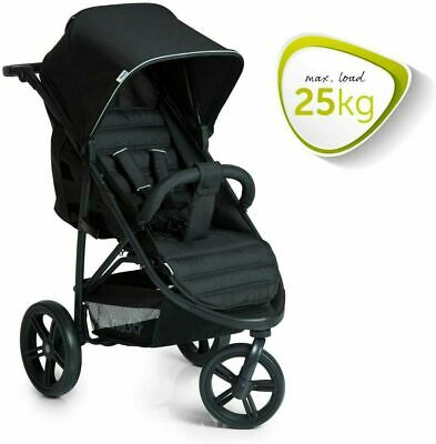 New Hauck Rapid 3 Wheeler One Handfold Pushchair Buggy Black Pram+Raincover • 56£