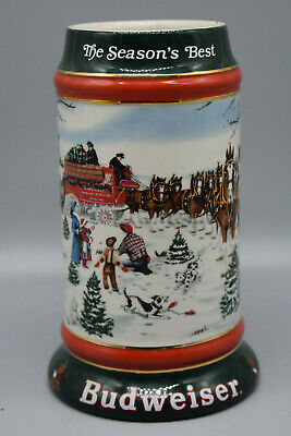 $ CDN25.91 • Buy 1991 Budweiser Holiday Stein,  The Season's Best  Good Condition. Preowned