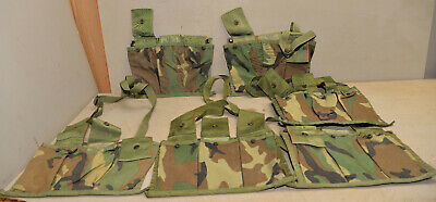 $49.99 • Buy 6 New US Military Surplus PN M16A2 Molle Mag Pouch Magazine Bandoleer Camo Lot