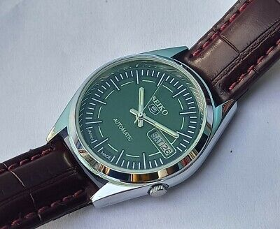 $ CDN29.75 • Buy Seiko 5 Automatic Day/date Green Dial Men's Japan Made Watch Working Condition