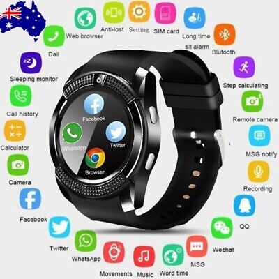 AU21.99 • Buy V8 Bluetooth Smart Watch Waterproof SIM Camera Wrist Watches Kids For Android AU