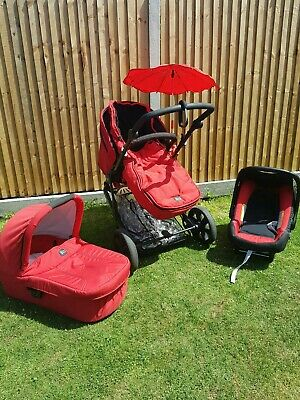 Britax B - Smart, 3 Wheeler Pushchair Buggy - Red, Used. • 150£