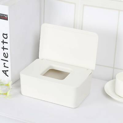 Tissue Wet Wipes Dispenser Holder Paper Storage Box Case With Lid Dustproof UK • 6.29£