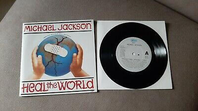 """Michael Jackson – Heal The World – 7"""" Vinyl Single – Special Poster Bag Edition • 3.50£"""