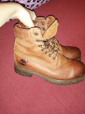 Brown Tan Leather Timberlands Boots UK Size 7  • 15£