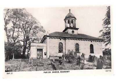 PARISH CHURCH, BRANDSBY, YORKSHIRE Unused Vintage Postcard RP By F. Frith  • 1.50£