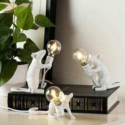 AU33.25 • Buy Mouse Table Lamp Modern Led Resin Rat Desk Lamp Bedroom Bedside Light Decor AU