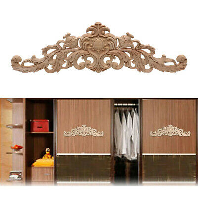 AU10.99 • Buy Corner Applique Furniture Decor DIY European Style Unpainted Woodcarving Decal