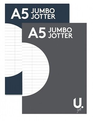 A5 Jumbo Refill Writing Jotter Notepad 300 Pages Ruled For School, College, Note • 2.99£
