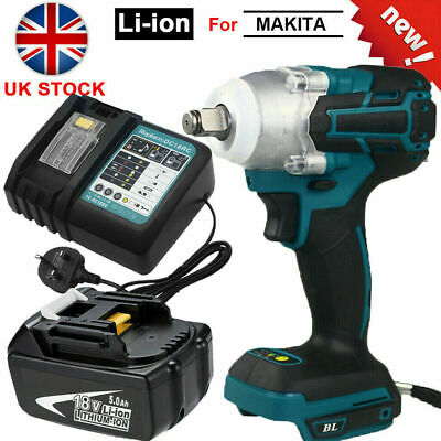 For Makita DTW285Z 18V LXT Brushless 1/2  Impact Wrench / 5.0AH Battery/ Charger • 89.47£