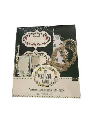 £1.75 • Buy Luxury Jam Jar Pickled Lables Labelling Set Lid Covers, Tags