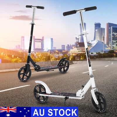 AU65.59 • Buy 2020 NEW Folding Scooter Push Dual Large Wheels Adult Commuter Child Supension