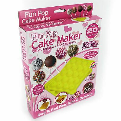 £6.99 • Buy Non Stick Silicone Lillipop Cake Pops Mould Baking Tray Birthday Party Set