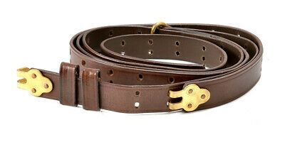 $26.99 • Buy BROWN LEATHER M1907 MILITARY RIFLE SLING M1GARAND 1903 SPRINGFIELD  1  Width