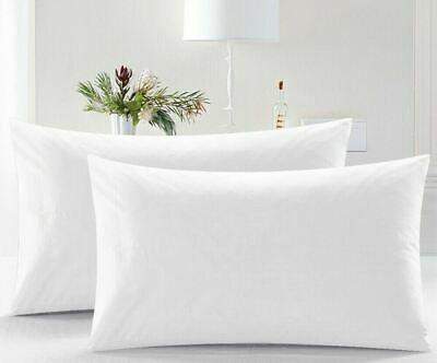 £5.98 • Buy Pack Of 2 Pillows, Luxury Bounce Back Hollow Fibre Filling Pillow Pair