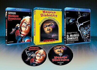 Muñeco Diabolico BD + DVD De Extras + Slip Cover  1988 Child's Play [Blu-ray] • 20.65£
