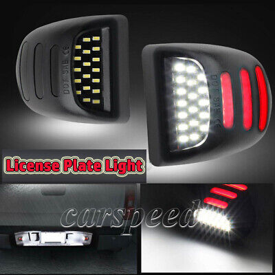 $13.99 • Buy LED License Plate Light W/Red DRL For Tahoe Silverado GMC Sierra 1500 2500 3500