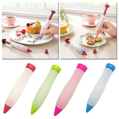 Silicone Pastry Icing Piping Utensil Nozzles Cake Fondant Tools Decorating Pen • 1.79£