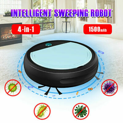 4in1 Vacuum Cleaner Smart Floor Sweeping Robot Automatic Clean UV Sterilizer Hot • 19.95£
