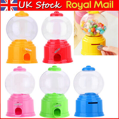 Kids Candy Gumball Machine Saving Coin Bank Retro Sweet Mini Candy Toy Dispenser • 6.83£