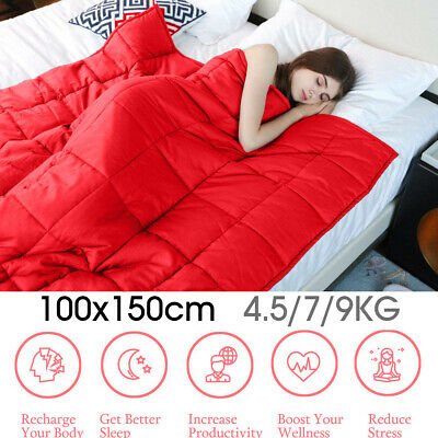 AU55.90 • Buy Weighted Blanket Relax Sleeping Adult Soft Cotton 7Kg / 15Lbs 100x150 C
