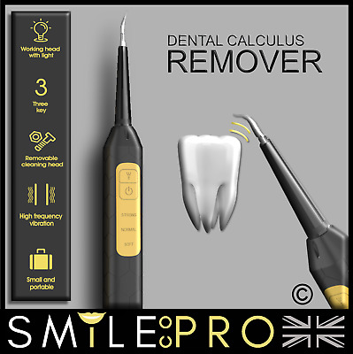 £12.99 • Buy Electric Tooth Cleaner Sonic Scaler Calculus Remover Teeth Tartar Plaque Stains