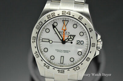 $ CDN11445.30 • Buy Rolex Explorer II White Automatic Stainless Steel 42MM Watch 216570