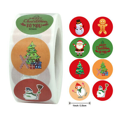 £4.28 • Buy Christmas Stickers Gift Decoration Presents Envelope Card Childrens Santa Seals