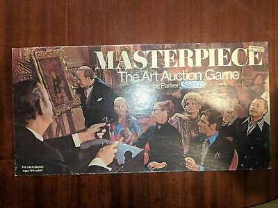 Vintage Masterpiece, The Art Auction Game By Parker (1970) • 16£