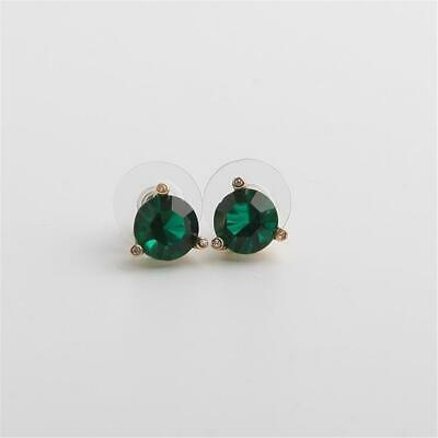 $ CDN30.62 • Buy Kate Spade New York Rise And Shine Stud Earrings Emerald Green Gold Tone