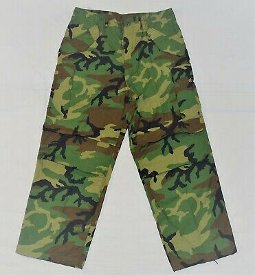 $54 • Buy US GI M65 Cold Weather Field Trousers Pants Woodland Camo Size Large Regular