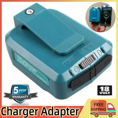 AU23.89 • Buy 2 USB Power Charger Adapter Converter For Makita 18V 14.4V ADP05 Li-ion Battery