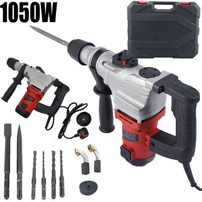 1050W Electric Hammer Drill Demolition Rotary Chuck SDS Plus Bit Set 2 Chisels • 55.98£