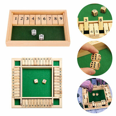 £11.94 • Buy Children/Kids 4 Players Board Games Shut The Box Family Wooden Traditional Pub