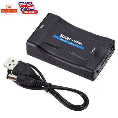 1080P SCART To HDMI Composite Video Scaler Converter Audio Adapter For DVD TV UK • 3.59£