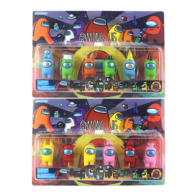 Among Us Action Figures Game Toys Collection PVC Dolls Keychain Pack Xmas Gifts • 10.76£