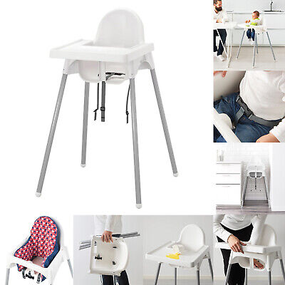 NEW IKEA ANTILOP Baby Feeding Children Highchair Cushion Tray Safety Belt White • 25.99£