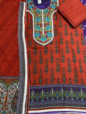 £15 • Buy Salwar Kameez Unstitched Embroidered Wool Winter Collection