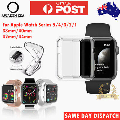 AU4.85 • Buy IWatch Screen Protector Case Full Coverage For Apple Watch 1 2 3 4 5 38/40/42/44