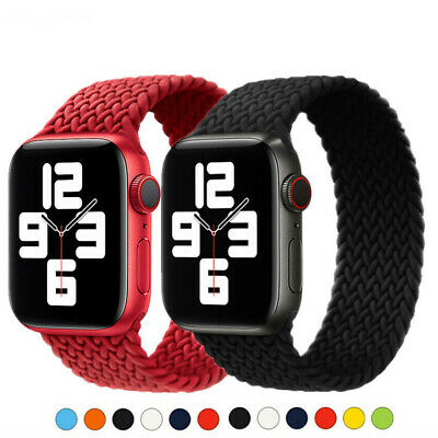 AU13.99 • Buy For IWatch Apple Watch SE 6 5 38 44MM Elastic Nylon Strap Braided Solo Loop Band