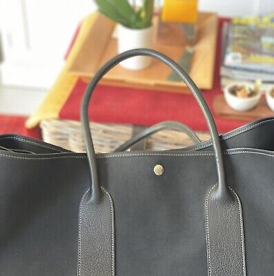 AU1500 • Buy Hermes Noir Black Canvas Negonda Leather Handbag Tote
