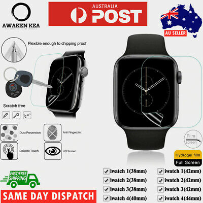 AU4.25 • Buy For Apple Watch IWatch Full Screen Protector Film Series 1 2 3 4 5 38/40/42/44mm