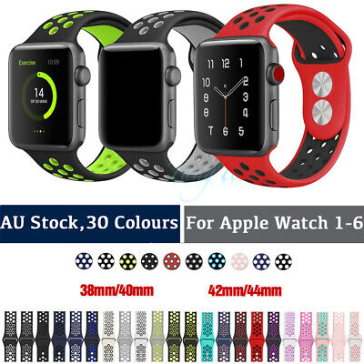 AU8.80 • Buy Silicone Nike Sport Strap IWatch Band For Apple Watch 3840/4244mm Series SE 1-6